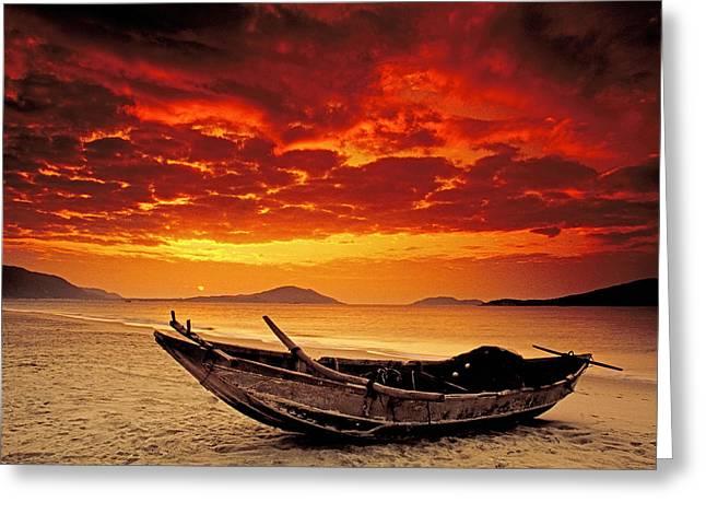 China Beach Greeting Cards - Hainan beach 3 Greeting Card by Dennis Cox ChinaStock