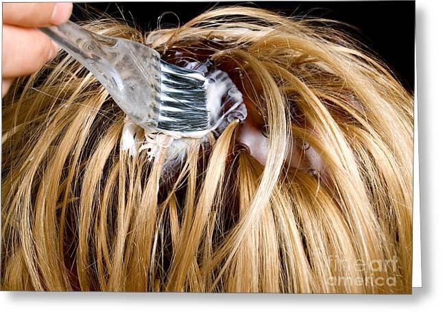 Hair Dyeing Greeting Card by Sinisa Botas