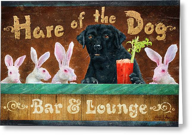 Tape Greeting Cards - Hair of the Dog Greeting Card by JQ Licensing