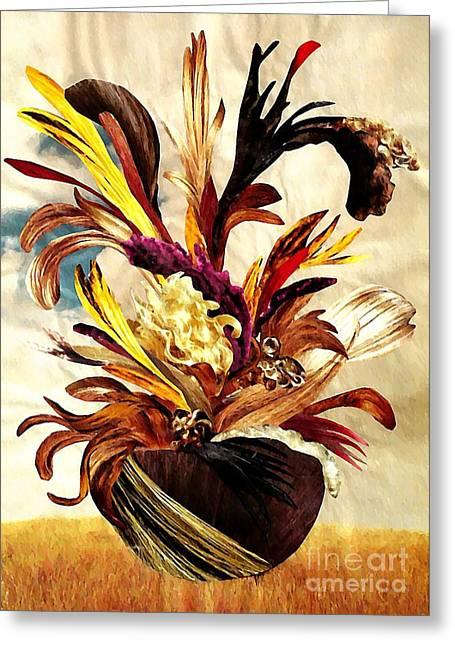 Sarah Loft Greeting Cards - HairFlower Arrangement 2 Greeting Card by Sarah Loft