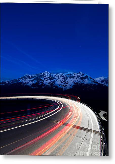Hairpin Turn Greeting Card by Maurizio Bacciarini