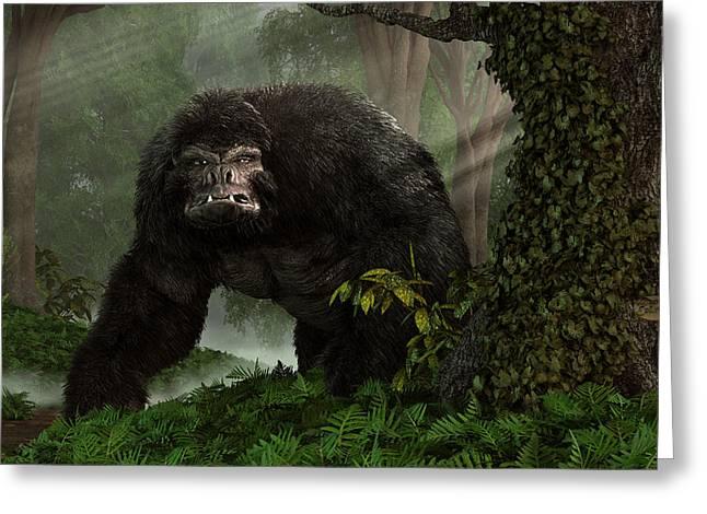 Yeti Greeting Cards - Hairy Beast Greeting Card by Daniel Eskridge