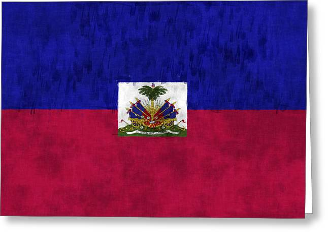 Haiti Flag Greeting Card by World Art Prints And Designs