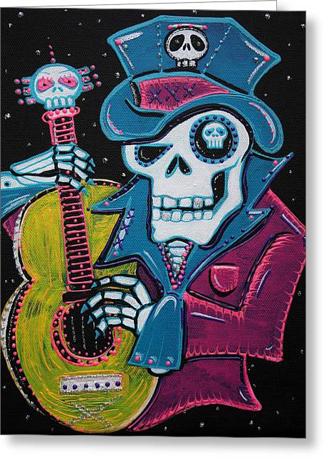 Blacklight Greeting Cards - Haitis Day of the Dead Greeting Card by Laura Barbosa
