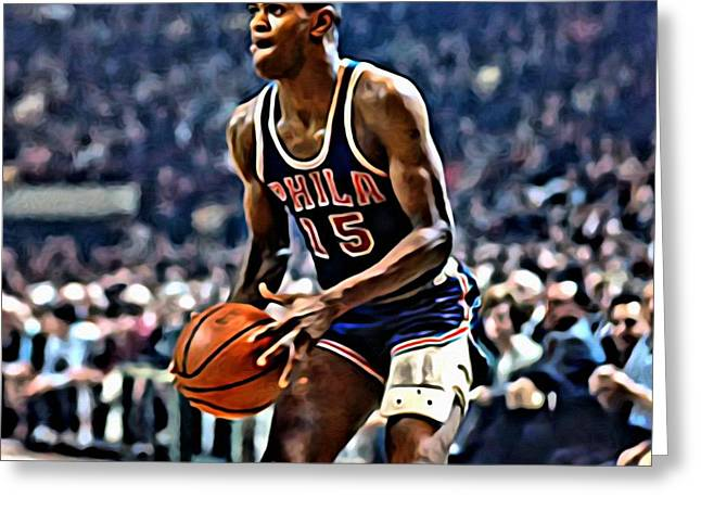Slamdunk Greeting Cards - Hal Greer Greeting Card by Florian Rodarte