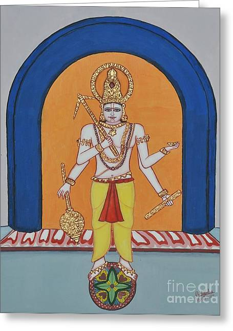 Incarnation Paintings Greeting Cards - Haladhara Greeting Card by Pratyasha Nithin