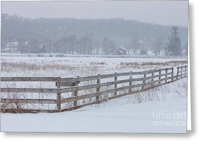 Cvnp Greeting Cards - Hale Farm at Winter Greeting Card by Joshua Clark