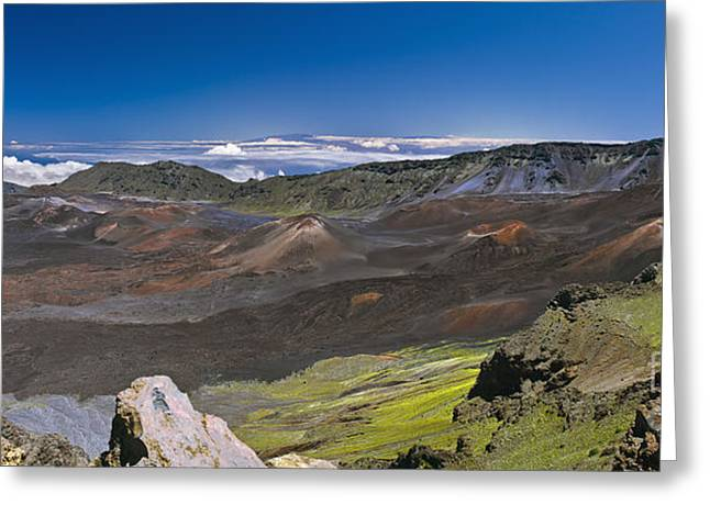 Photogaph Greeting Cards - Haleakala  A000576-77-78 D Greeting Card by Frank Wicker