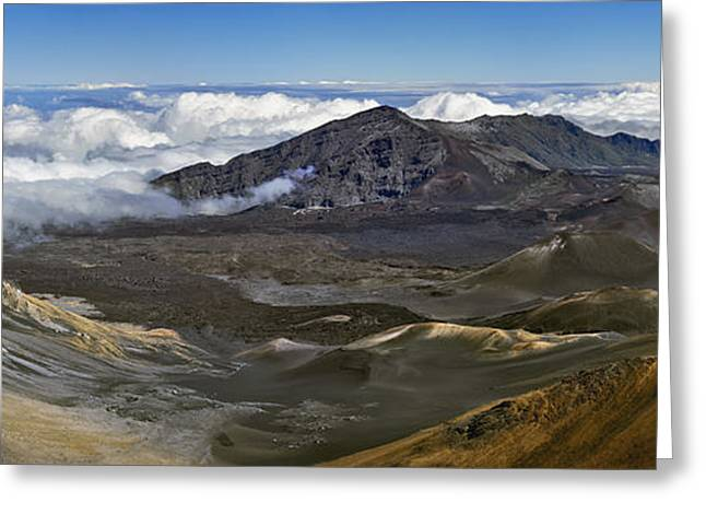 Photogaph Greeting Cards - Haleakala  A08491-92-93d Greeting Card by Frank Wicker