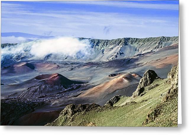 Haleakala Maui Greeting Cards - Haleakala Crater Greeting Card by Kelley King