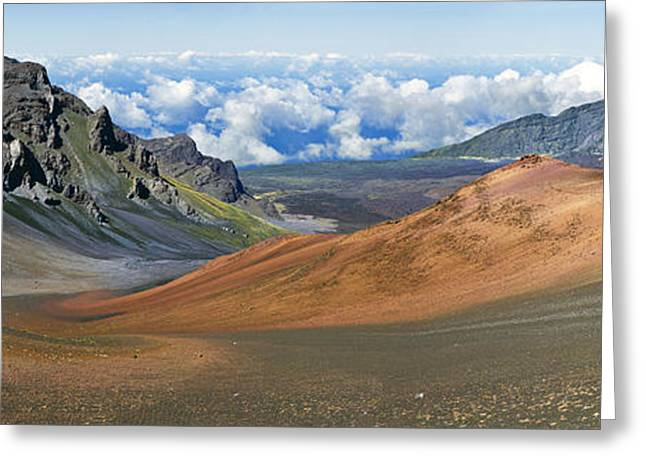 The Houses Greeting Cards - Haleakala Lava Erosion Greeting Card by Frank Wicker