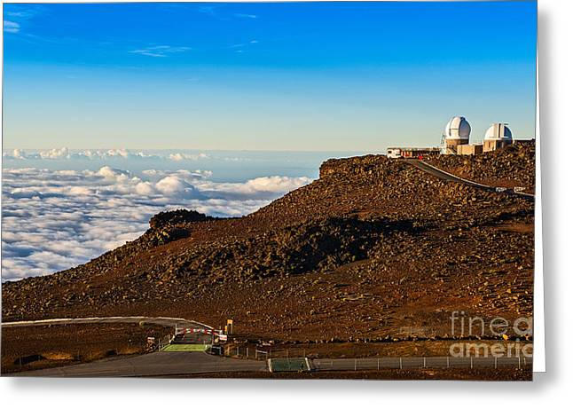 Zodiacal Greeting Cards - Haleakala Observatory in Maui. Greeting Card by Jamie Pham