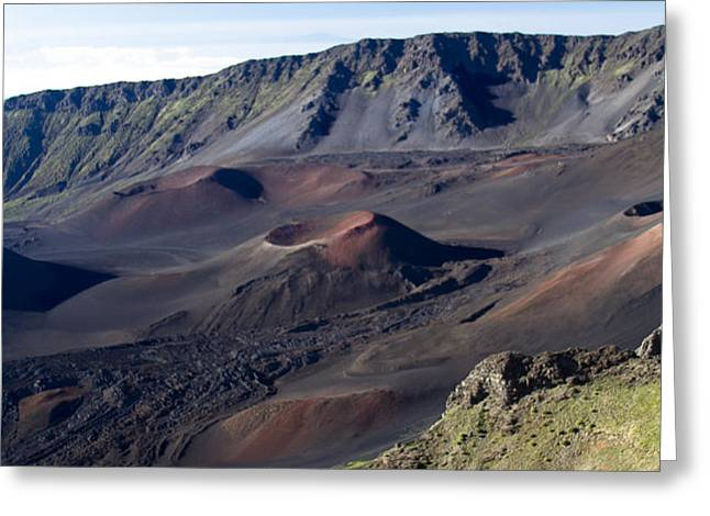 Haleakala Sunrise on the Summit Maui Hawaii - Kalahaku Overlook Greeting Card by Sharon Mau