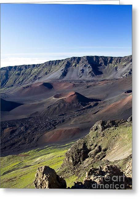 Haleakala Maui Greeting Cards - Haleakala Sunrise on the Summit Maui Hawaii - Kalahaku Overlook Greeting Card by Sharon Mau
