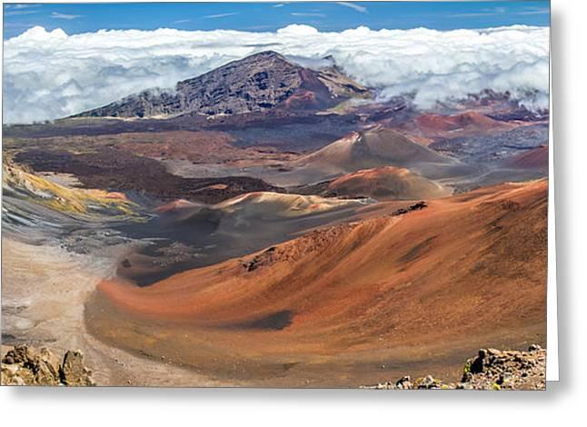 Haleakala Maui Greeting Cards - Haleakala volcano on Maui Hawaii Greeting Card by Pierre Leclerc Photography