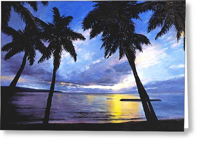 Haleiwa Sunset Greeting Card by Stacy Vosberg