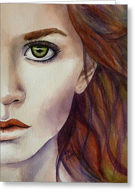 High Cheekbones Greeting Cards - Half a Life Greeting Card by Michal Madison
