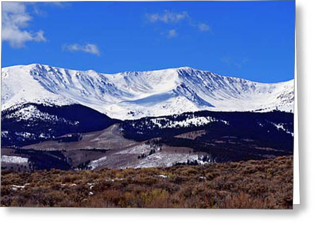 Jeremy Greeting Cards - Half-a-Mtn Panorama Greeting Card by Jeremy Rhoades