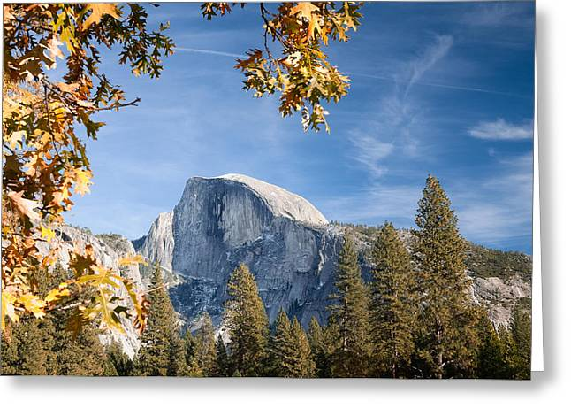 Half Dome Greeting Cards - Half Dome - Fall Greeting Card by Joseph Smith