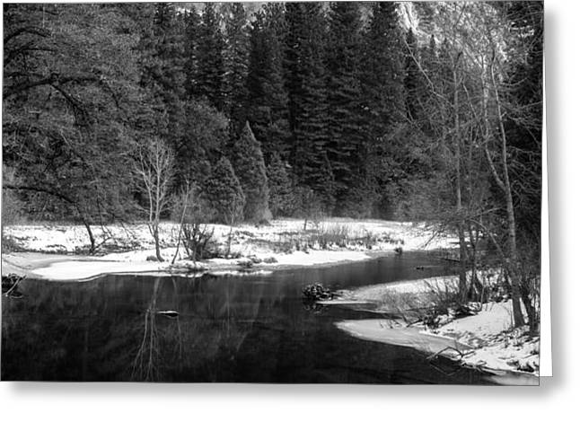 Half Dome in Winter Greeting Card by Karma Boyer