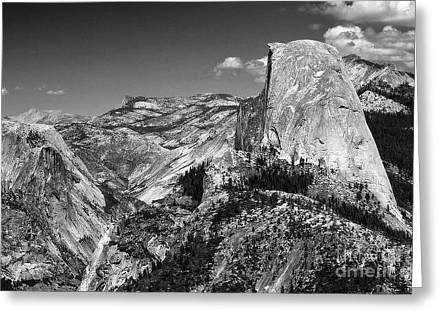 Monolith Greeting Cards - Half Dome Of Yosemite  Greeting Card by Chris Berry