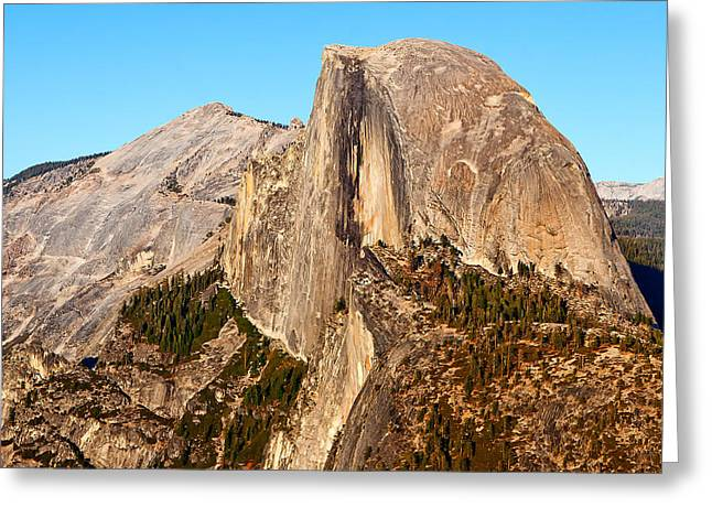 California Sunset Greeting Cards - Half Dome Greeting Card by Peter Tellone