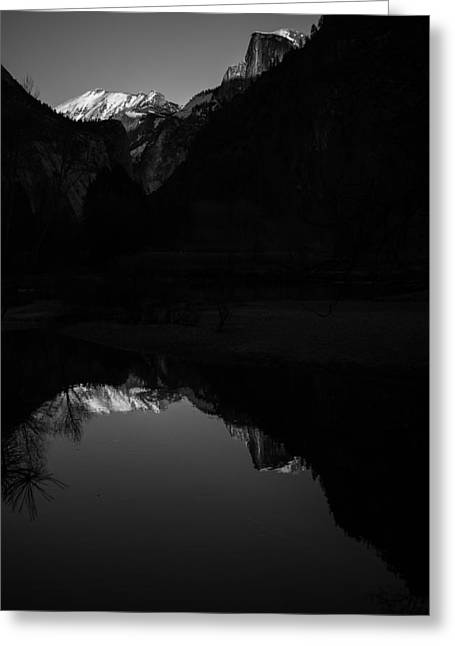 Mariposa County Greeting Cards - Half Dome Reflecting Greeting Card by Scott McGuire