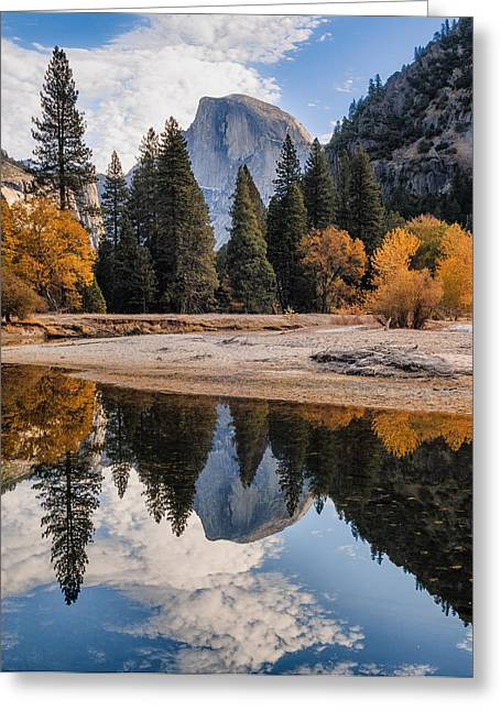 Half Dome Greeting Cards - Half Dome Reflection Greeting Card by Joseph Smith