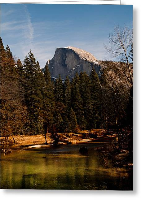 Half Dome Spring Greeting Card by Bill Gallagher