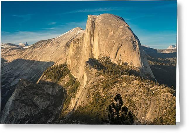 Half Dome Greeting Cards - Half Dome Sunset Greeting Card by Steve Gadomski