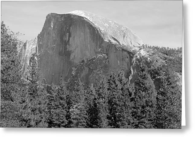 Monolith Greeting Cards - Half Dome Yosemite Greeting Card by Heidi Smith
