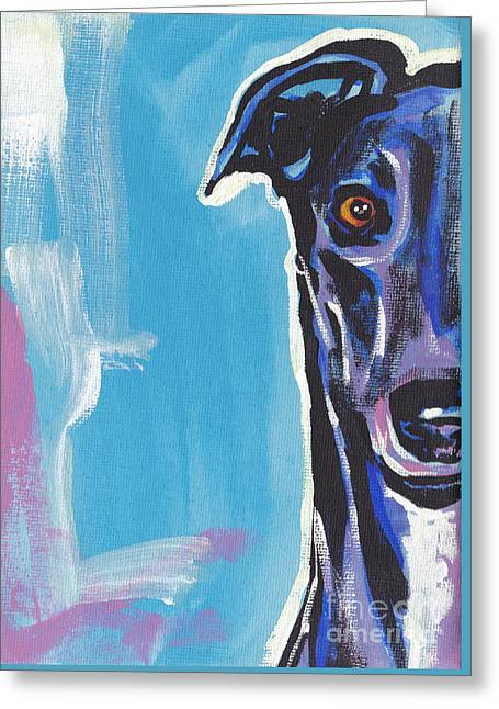 Greyhound Greeting Cards - Half Grey  Greeting Card by Lea