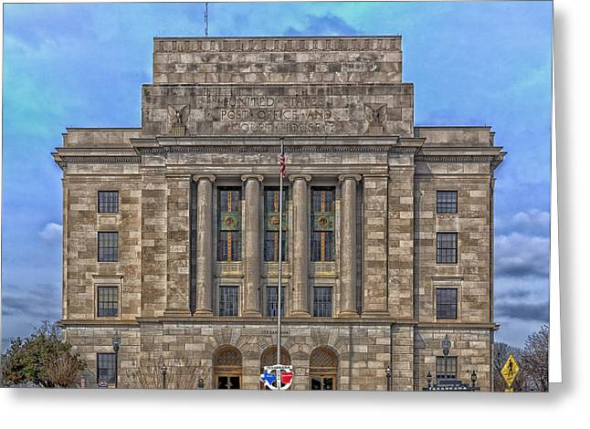 Arkansas Greeting Cards - Half In Half Out - Texarkana Federal Courthouse and Post Office Greeting Card by Mountain Dreams