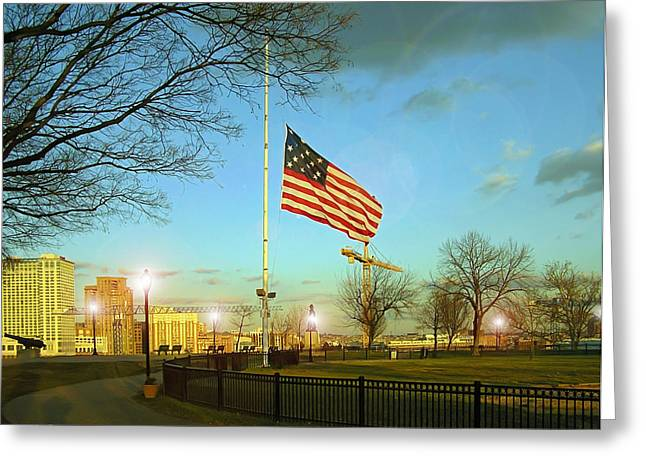Half Staff Greeting Cards - Half Mast Greeting Card by Brian Wallace