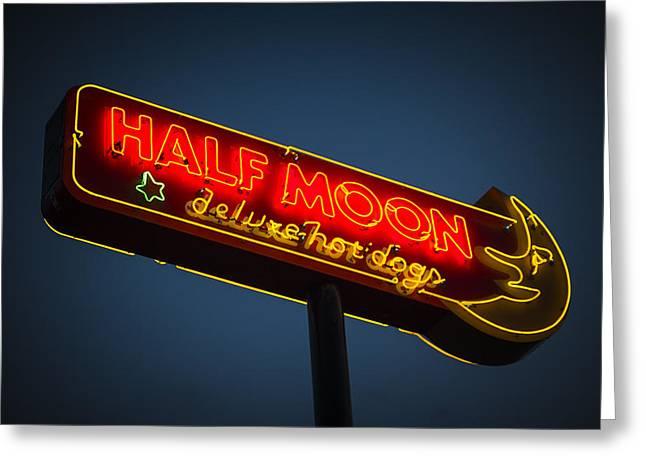 Manitoba Greeting Cards - Half Moon Greeting Card by Bryan Scott