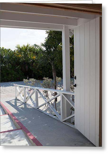 Half Moon Cay Greeting Cards - Half Moon Cay Doorway Greeting Card by Christopher McCartin