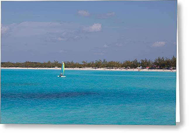 Half Moon Cay Greeting Cards - Half Moon Cay on the water Greeting Card by Christopher McCartin