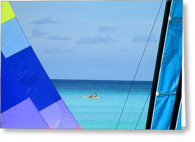 Shore Excursion Greeting Cards - Half Moon Cay Greeting Card by Randall Weidner