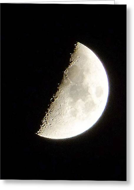 Ron Roberts Photography Greeting Cards Greeting Cards - Half Moon Greeting Card by Ron Roberts