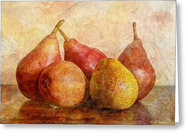 Pear Art Greeting Cards - Half Of Ten II Greeting Card by Heidi Smith