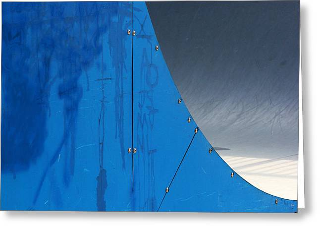 Half Pipe Greeting Cards - Half Pipe Abstract 1 Greeting Card by Mary Bedy