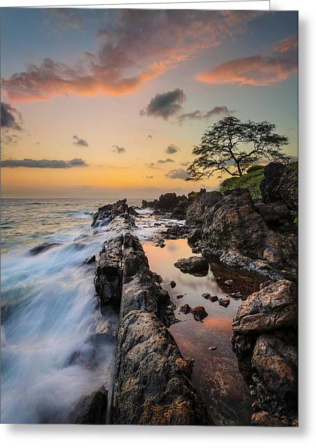 Half Reflection Greeting Card by Hawaii  Fine Art Photography
