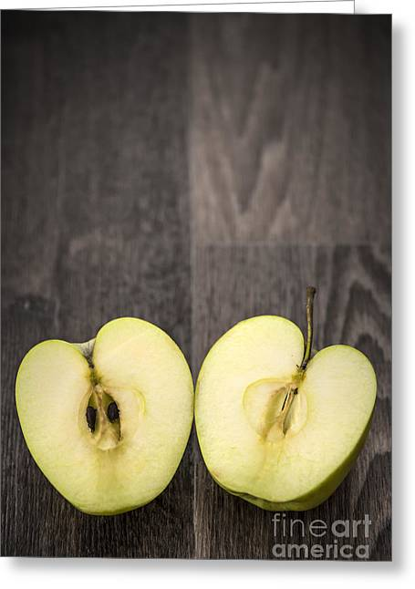 Apple Art Greeting Cards - Half Greeting Card by Svetlana Sewell