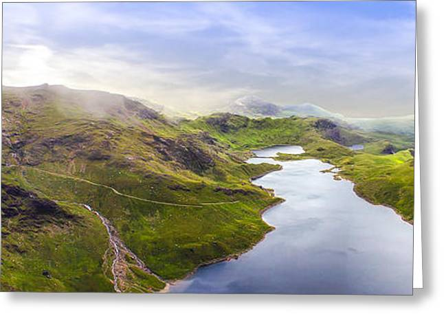 Landscapes Of Wales Greeting Cards - Half way up or half way down Greeting Card by Paul Madden