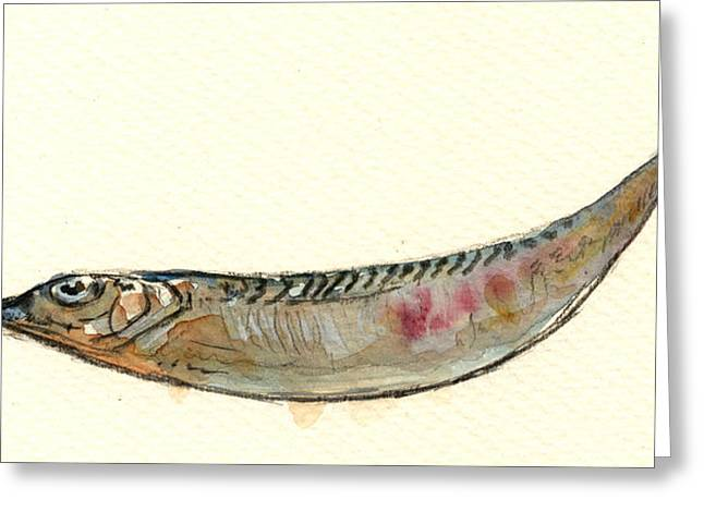 Fish Bait Greeting Cards - Halfbeak fish Greeting Card by Juan  Bosco