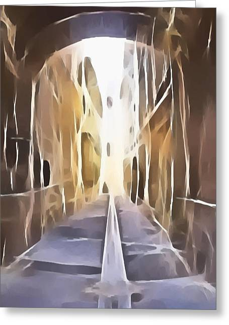 Fascinated Digital Art Greeting Cards - Halfway Greeting Card by Jeff Iverson