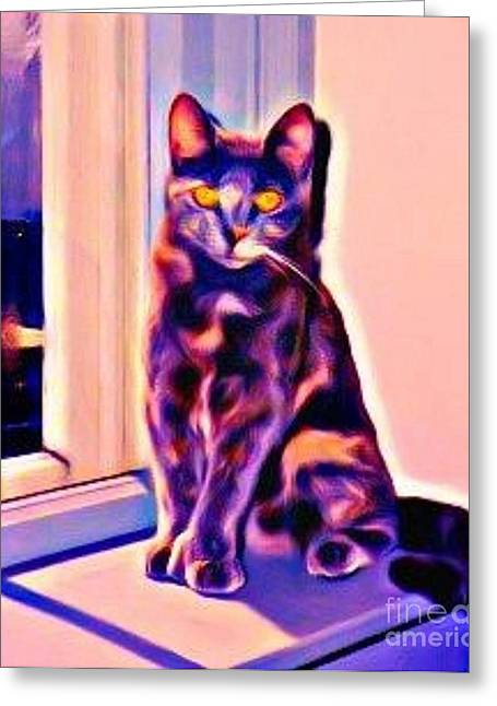 Halifax Art Greeting Cards - Halifax Cat Greeting Card by John Malone