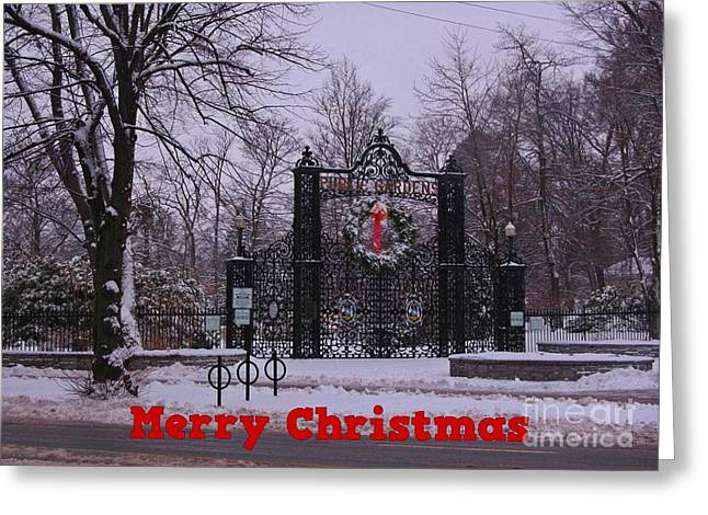 Halifax Art Greeting Cards - Halifax Christmas Greeting Card by John Malone