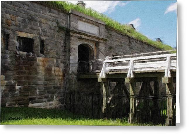Historical Greeting Cards - Halifax Citadel Greeting Card by Jeff Kolker