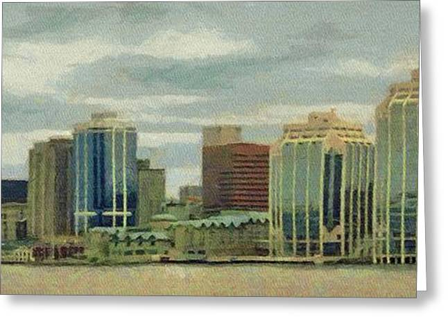 Halifax From The Harbour Greeting Card by Jeff Kolker